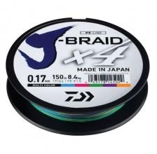 4 нишково плетено влакно J-Braid Multicolcor - 150 m