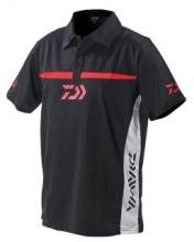 Тениска с Яка DAIWA - черно/бяло TPBW - L