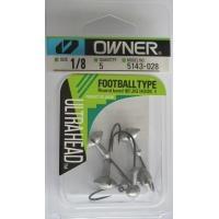 Джиг глави Owner Football Type модел  51430 - 3,5 гр - кука No 1 - 5 броя