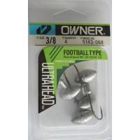 Джиг глави Owner Football Type модел  51430 - 10,5 гр - кука No 1/0 - 4 броя