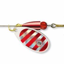 Въртяща се блесна Cormoran BULLET, сребристо-червено № 1 - 3,2 г