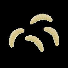 Силиконови червеи /камоли/ NomuraWORM 20 mm 0.35 g  -бели  - 12 броя