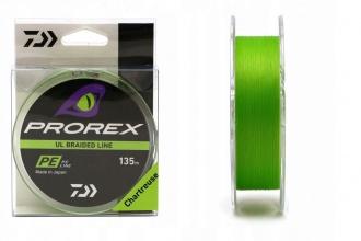 4 нишково плетено влакно Daiwa PROREX UL FINESSE BRAID - светло зелено - РЕ 0.3 - 135 м