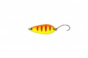 Блесна клатушка NOMURA Isei Trout Aki - 3.0 г - yellow orange red strripes