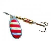Въртяща се блесна Colonel Z Red stripe № 2 с холограма