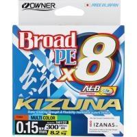 8 нишково плетено влакно Owner KIZUNA x8 300м/ Multicolor - 1.2 PE (0.15мм)