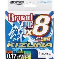 8 нишково плетено влакно Owner KIZUNA x8 300м/ Multicolor - 1.5 PE (0.17мм)