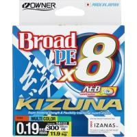 8 нишково плетено влакно Owner KIZUNA x8 300м/ Multicolor - 2.0 PE (0.19мм)