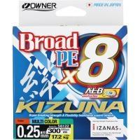 8 нишково плетено влакно Owner KIZUNA x8 300м/ Multicolor - 3.0 PE (0.25мм)