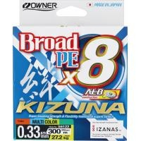 8 нишково плетено влакно Owner KIZUNA x8 300м/ Multicolor - 5.0 PE (0.33мм)