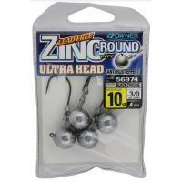 Джиг глава Owner Zinc Ultra Head -  10 гр - №3/0 - 4 броя в пакет