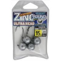 Джиг глава Owner Zinc Ultra Head -  15 гр - №3/0 - 4 броя в пакет