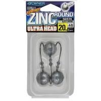 Джиг глава Owner Zinc Ultra Head -  20 гр - №4/0 - 3 броя в пакет