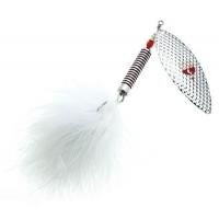 Въртяща се блесна Pezon Michel Feather Pike - 28 г - silver/white