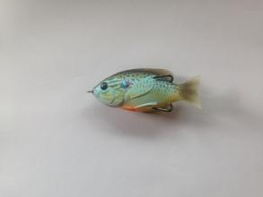 Воблер повърхностен  LiveTarget Sunfish Topwater 76 мм, 12,4 г - Natural/Blue