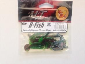 Силиконова примамка Quantum B - Fish - 39 мм - broun/light green - 10 броя в пакет