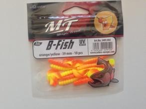 Силиконова примамка Quantum B - Fish - 39 мм - orange/yellow - 10 броя в пакет