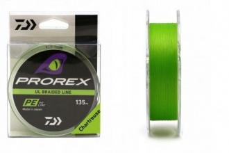 4 нишково плетено влакно Daiwa PROREX UL FINESSE BRAID - светло зелено - РЕ 0.6 - 135 м