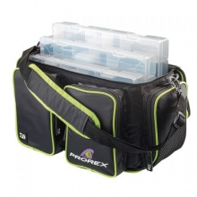 Спинингова чанта с 4 кутии за примамки DAIWA PROREX TACKLE BOX BAG - L - дължина 46 см, ширина 24 см, височина 25 см