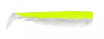 Силикон Black Minnow Fiiish No3 - 12cm Yellow/White