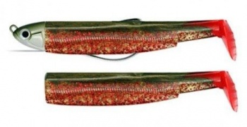 Black Minnow Fiiish  No3 Combo - 12 cm, 6g Red силикон