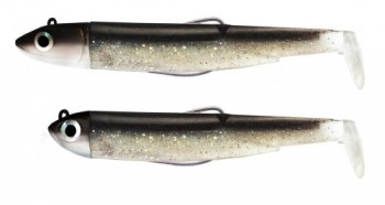 Силиконова примамка  Black Minnow Fiiish No1 Double Combo - 7 cm, 3g+6g