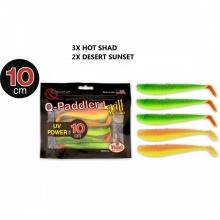 Силиконова примамка рибка/шад Quantum Q-Paddler Shad Mix 100 мм - 5 броя в пакет