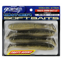 Силиконова примамка Owner Ribeye Swimbait - 140 мм - 4 броя - №23 - Baby Bass