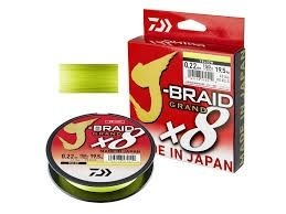 8 нишково плетено влакно Daiwa J- Braid Grand X 8 - 135 m - цвят - жълт