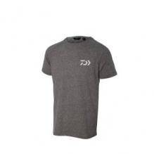 Тениска DAIWA T-SHIRT D-VEC Светло сива с бяло лого - XXL
