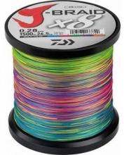 8 нишково плетено влакно Daiwa j-braid, 1 500 m,  multi color