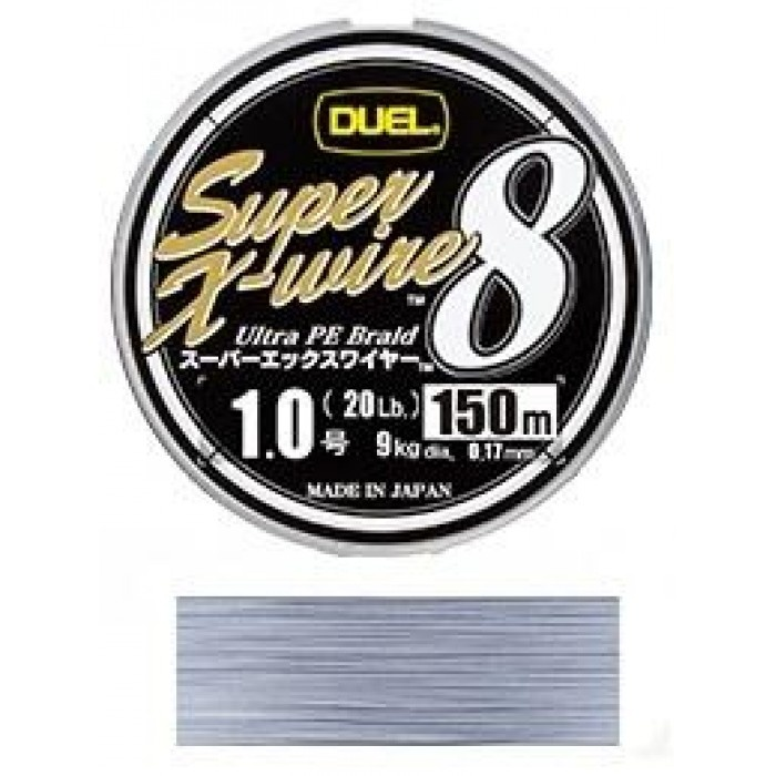 Плетено Влакно Super X-Wire 150м Silver Duel 0.19 mm