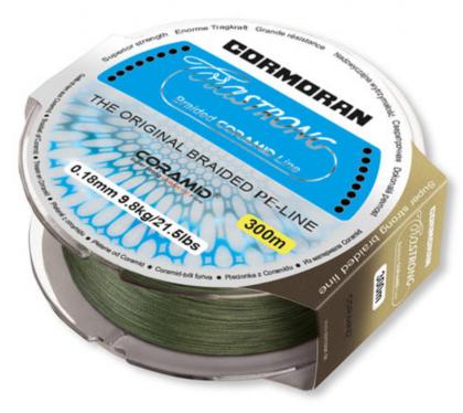 4 нишково плетено Влакно Cormoran Corastrong - 135 м  - зелено 4 нишково плетено Влакно Cormoran Corastrong - 135 м - 0.10 мм