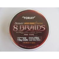 Плетено 8 нишково Toray Bawo Super Power 150 м, 0.26mm