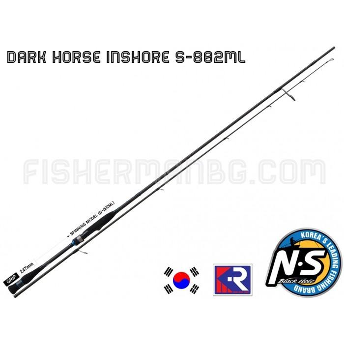 Спининг въдица Black Hole Dark Horse Inshore S-802 ML 2.44 m - 8-28 g