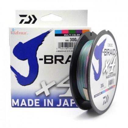4 нишково плетено влакно J-Braid Multicolcor - 300 m - многоцветно