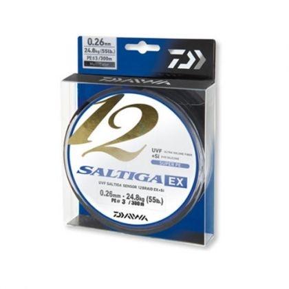 12 нишково плетено влакно Daiwa Saltiga 12 BRAID EX+SI - 300 метра - цвят multicolor 12 нишково плетено влакно Daiwa Saltiga 12 BRAID EX+SI - 300 метра - цвят multicolor 0.14 мм