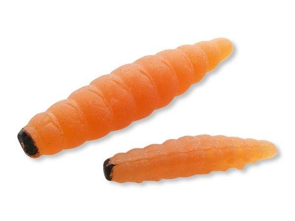 Силиконови червеи /камоли/ BIG TROUT MAGGOT 35 мм - оранжеви - 8 броя