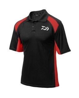 Тениска с яка DAIWA - цвят - червено / черно DPSBR - XL